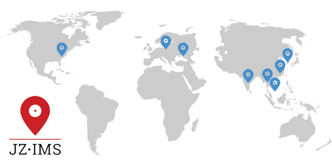 Map of JZIMS international partnerships